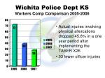 wichita police dept ks workers comp comparison 2005 2006