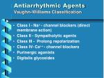 antiarrhythmic agents vaughn williams classification