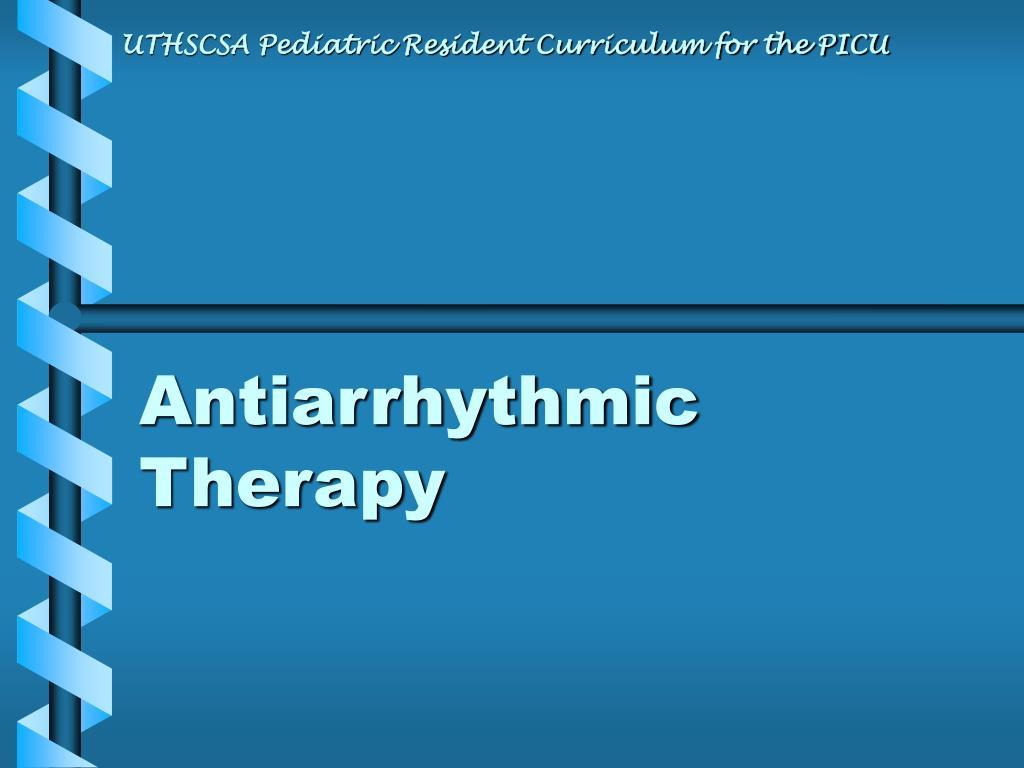 antiarrhythmic therapy l.