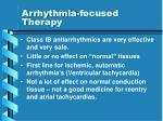 arrhythmia focused therapy21