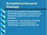 arrhythmia focused therapy31