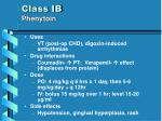 class ib phenytoin