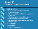 class ic flecainide propafenone ethmozine