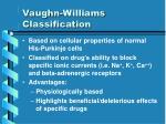 vaughn williams classification