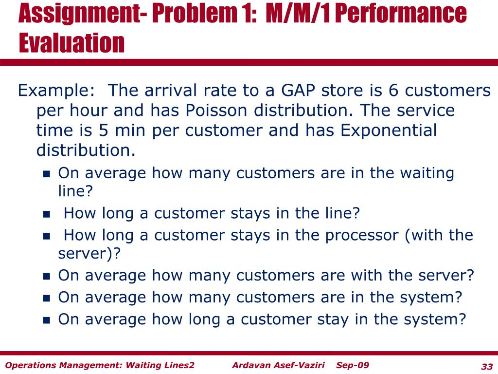 Assignment- Problem 1:  M/M/1 Performance Evaluation