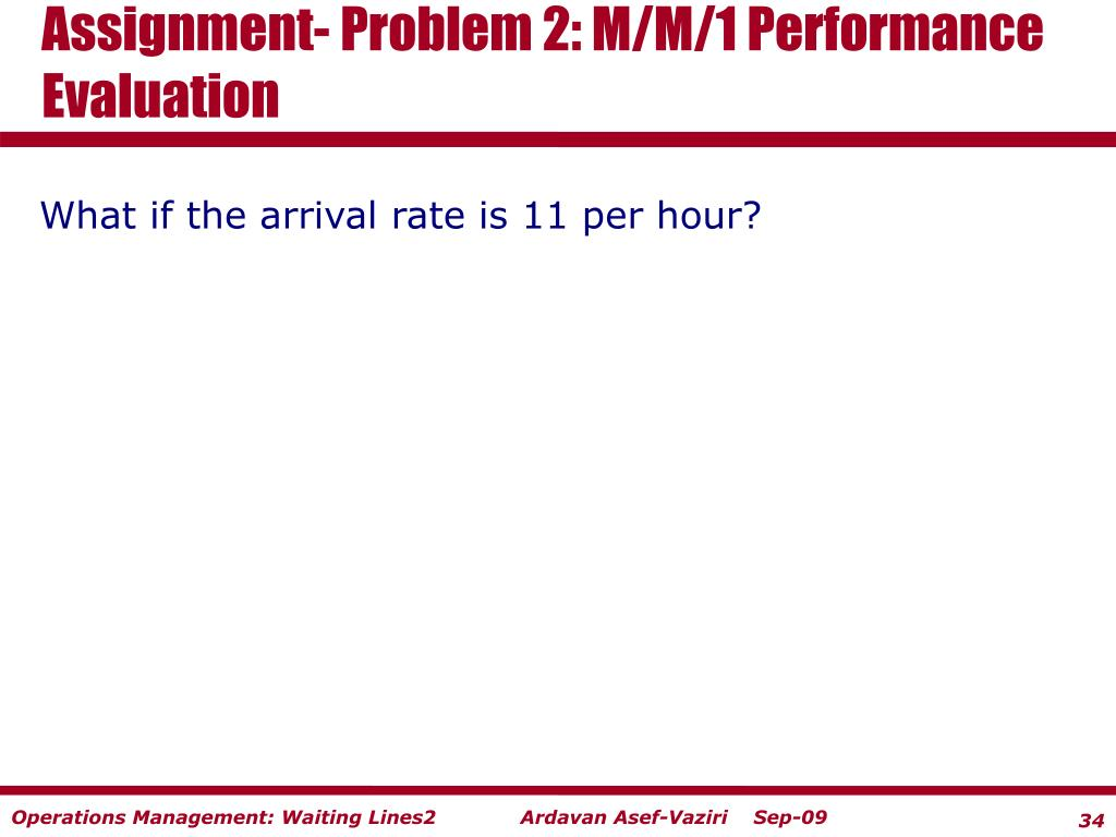 Assignment- Problem 2: M/M/1 Performance Evaluation