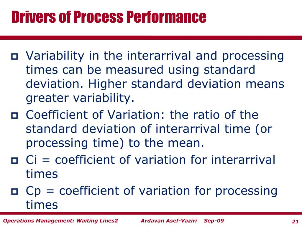Drivers of Process Performance