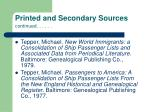 printed and secondary sources continued85