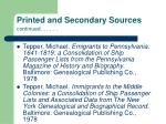 printed and secondary sources continued86