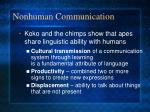 nonhuman communication