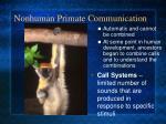 nonhuman primate communication