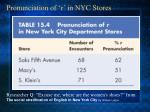 pronunciation of r in nyc stores