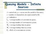 queuing models infinite sources