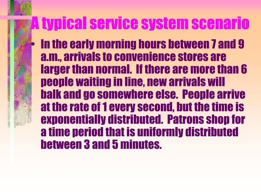 A typical service system scenario