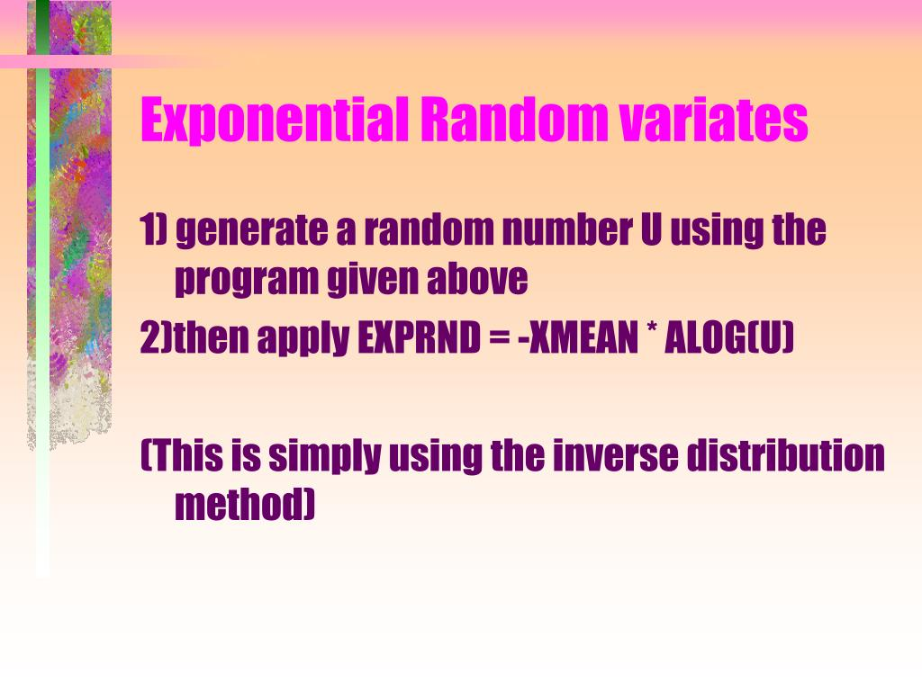 Exponential Random variates