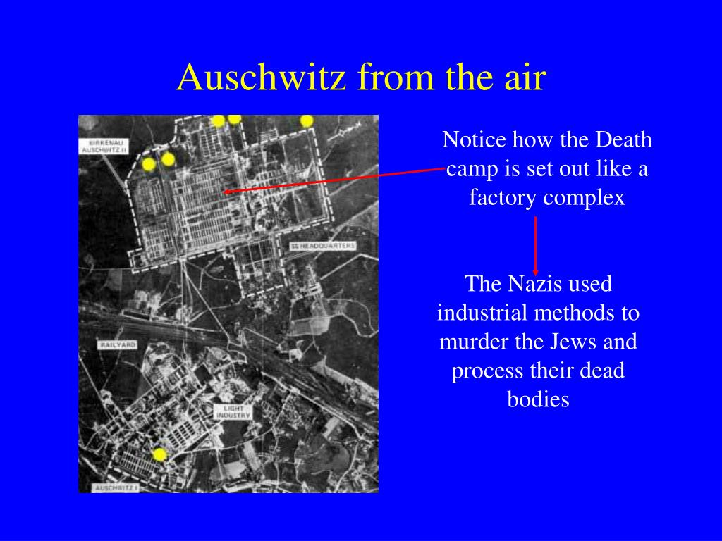 Notice how the Death camp is set out like a factory complex