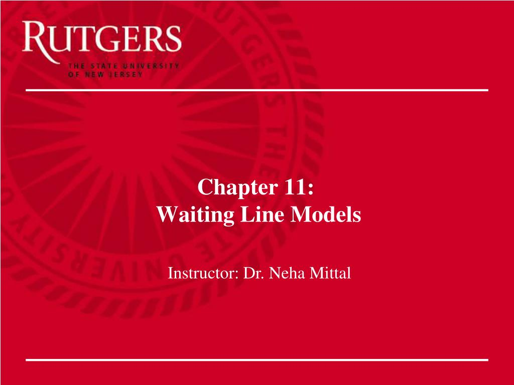 chapter 11 waiting line models l.