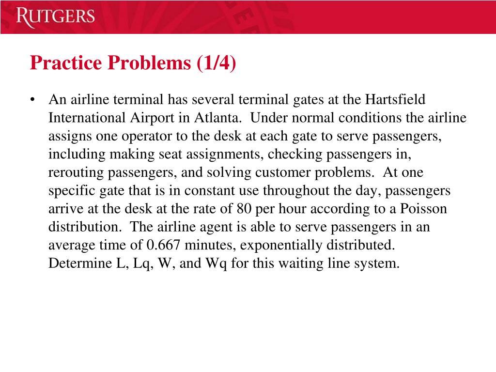 Practice Problems (1/4)