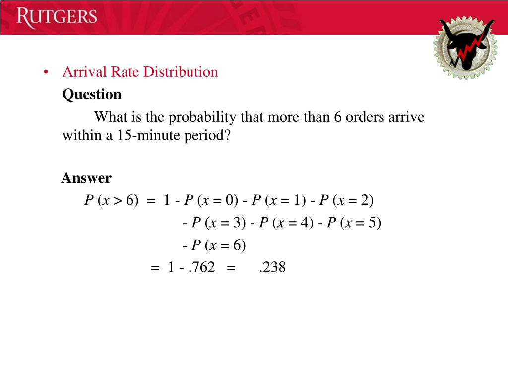 Arrival Rate Distribution