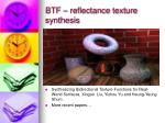 btf reflectance texture synthesis