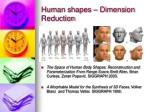 human shapes dimension reduction