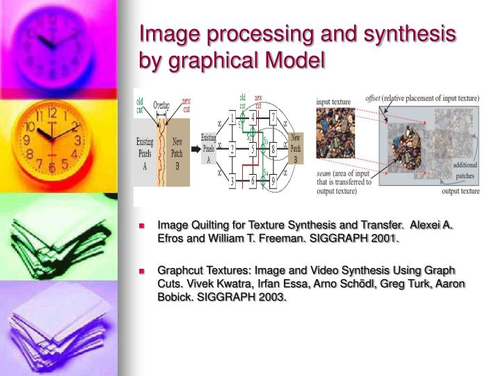 Image processing and synthesis by graphical Model