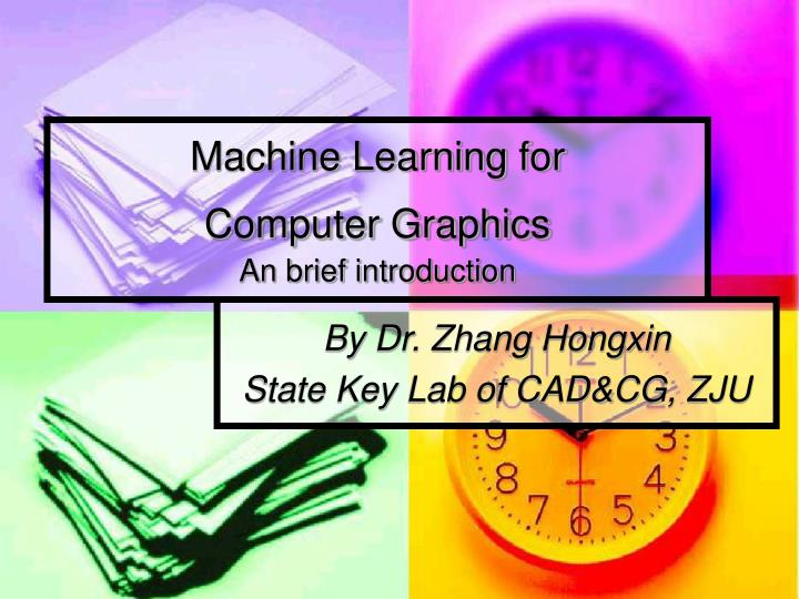 machine learning for computer graphics an brief introduction n.
