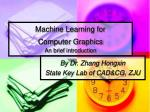 machine learning for computer graphics an brief introduction