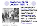 migration from country to city