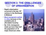section 2 the challenges of urbanization