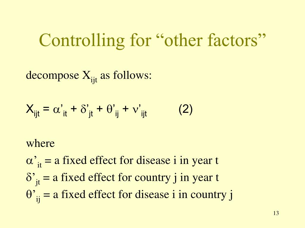 "Controlling for ""other factors"""