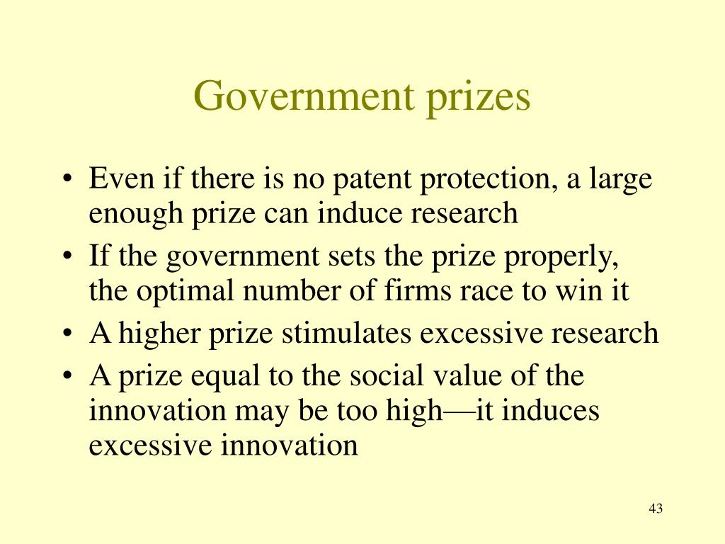 Government prizes