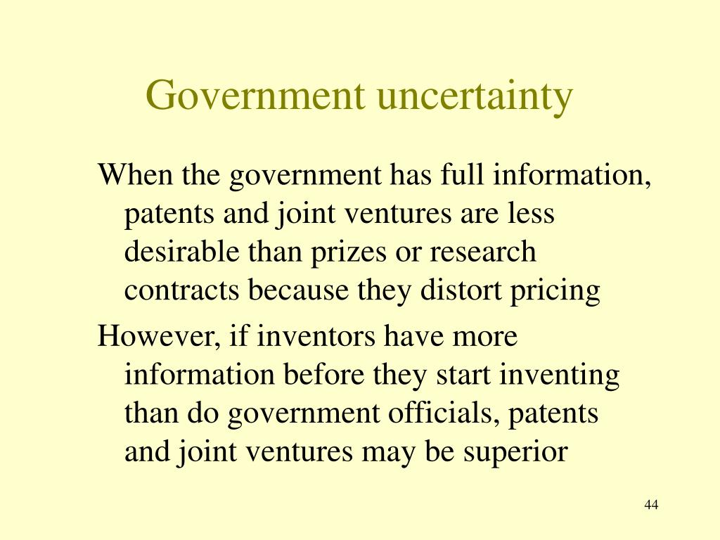 Government uncertainty