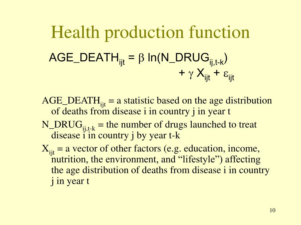 Health production function