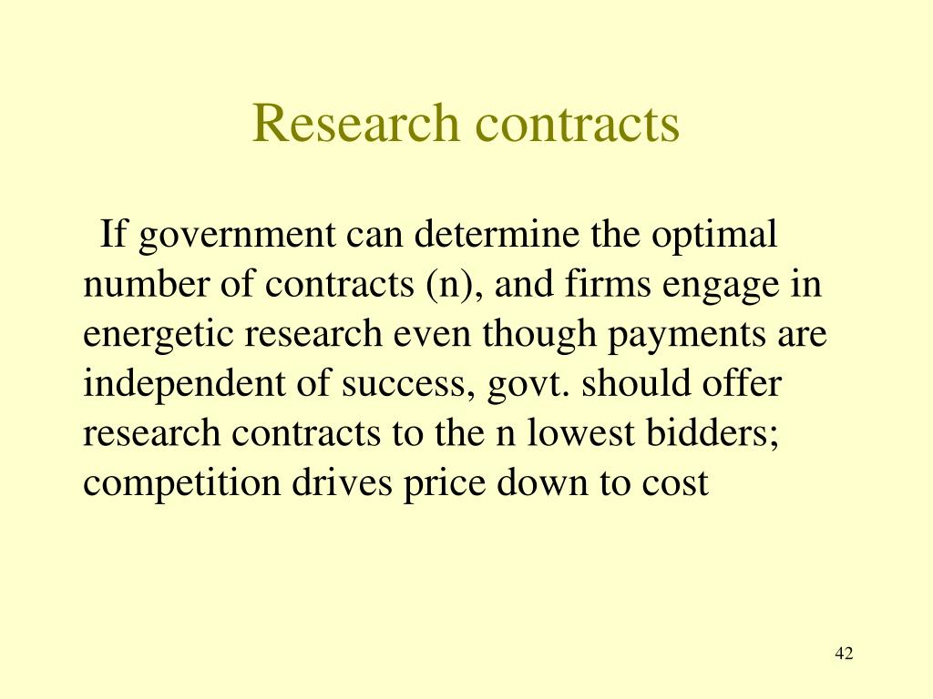 Research contracts