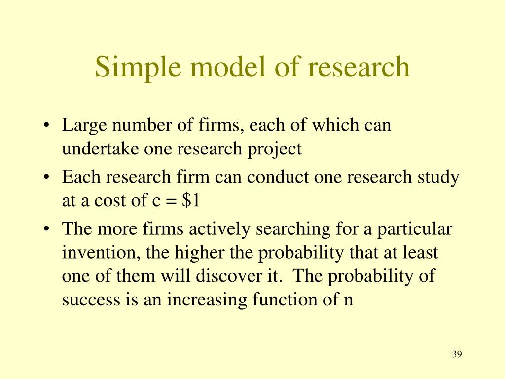 Simple model of research
