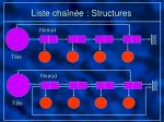 liste cha n e structures