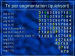 tri par segmentation quicksort57