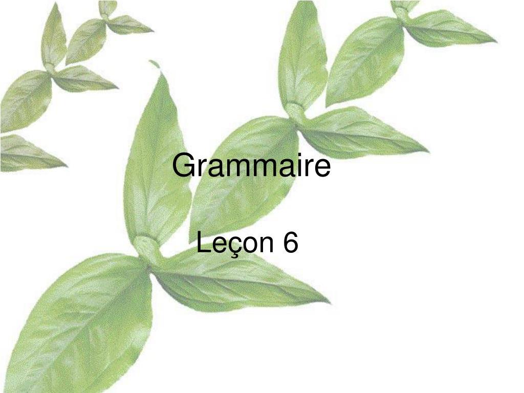 grammaire l.