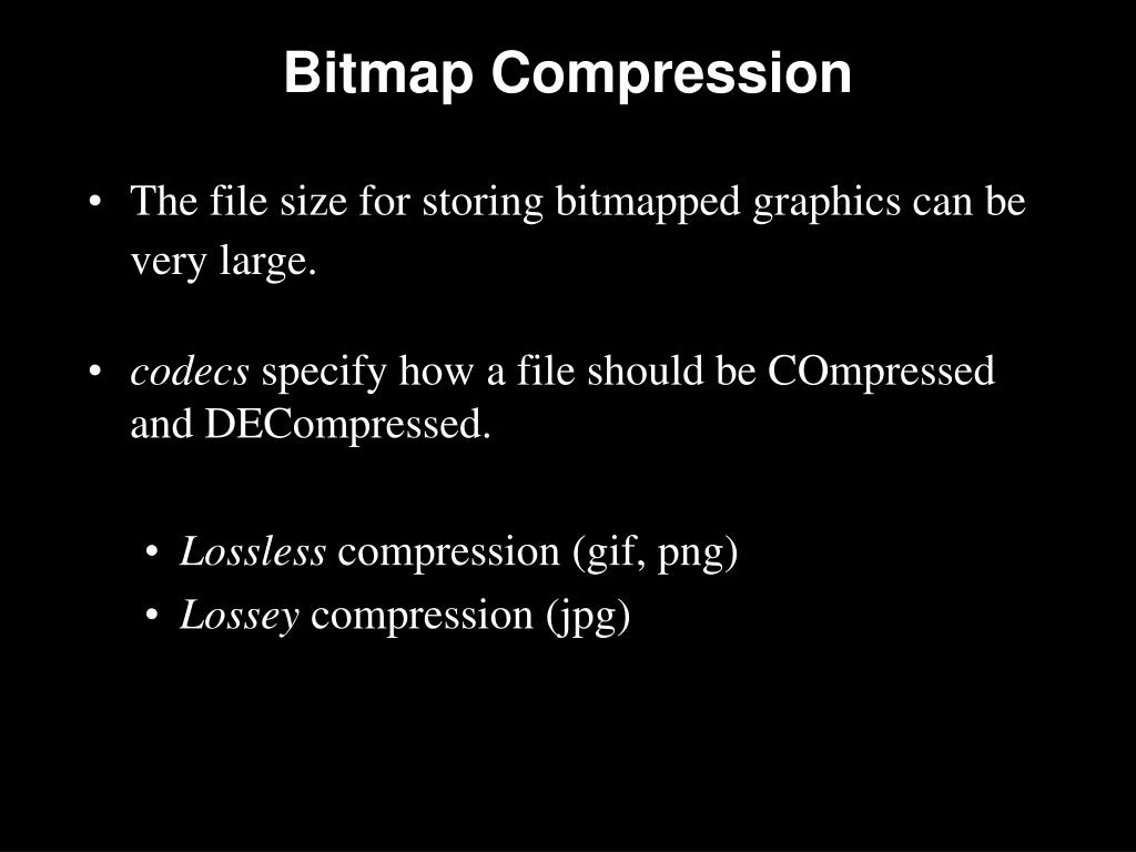 Bitmap Compression