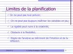 limites de la planification