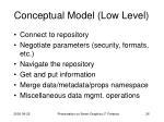 conceptual model low level