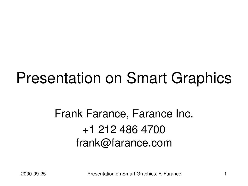 presentation on smart graphics l.