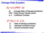 damage ratio equation