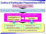 outline of earthquake preparedness efforts10