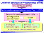 outline of earthquake preparedness efforts4
