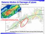 seismic motion damage of pipes