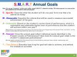 s m a r t annual goals