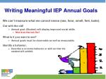 writing meaningful iep annual goals