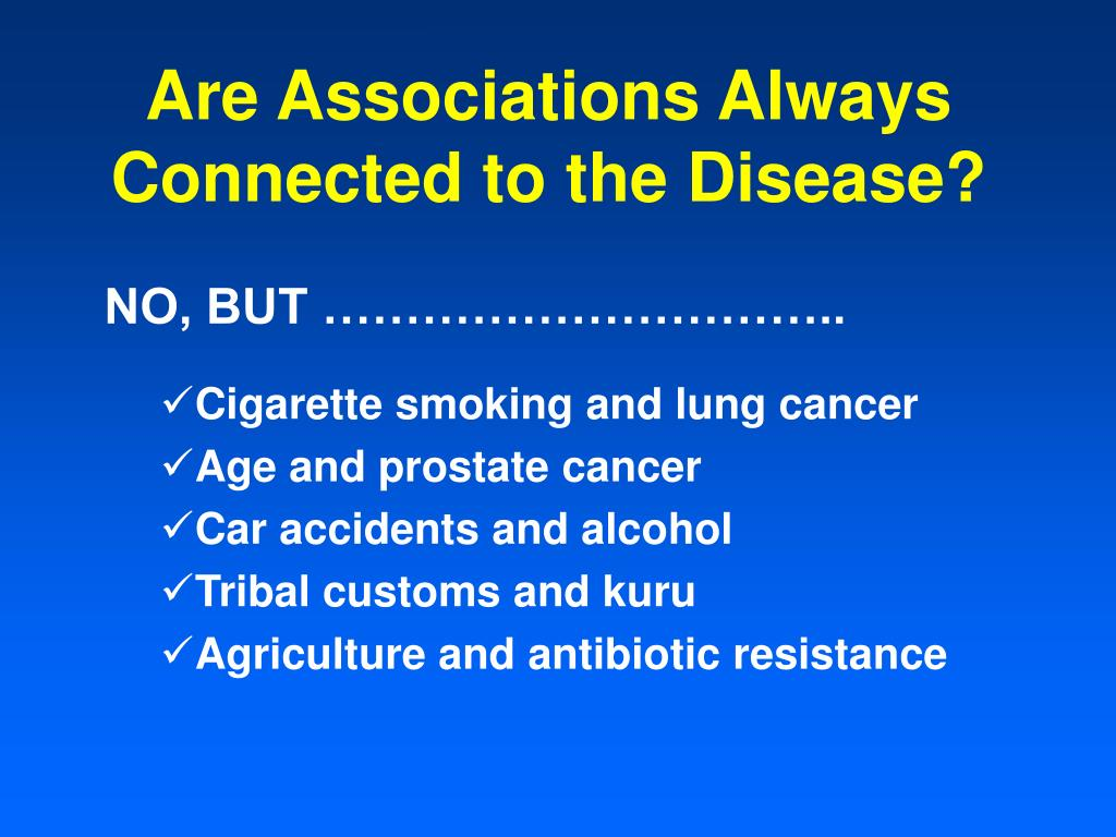 Are Associations Always Connected to the Disease?